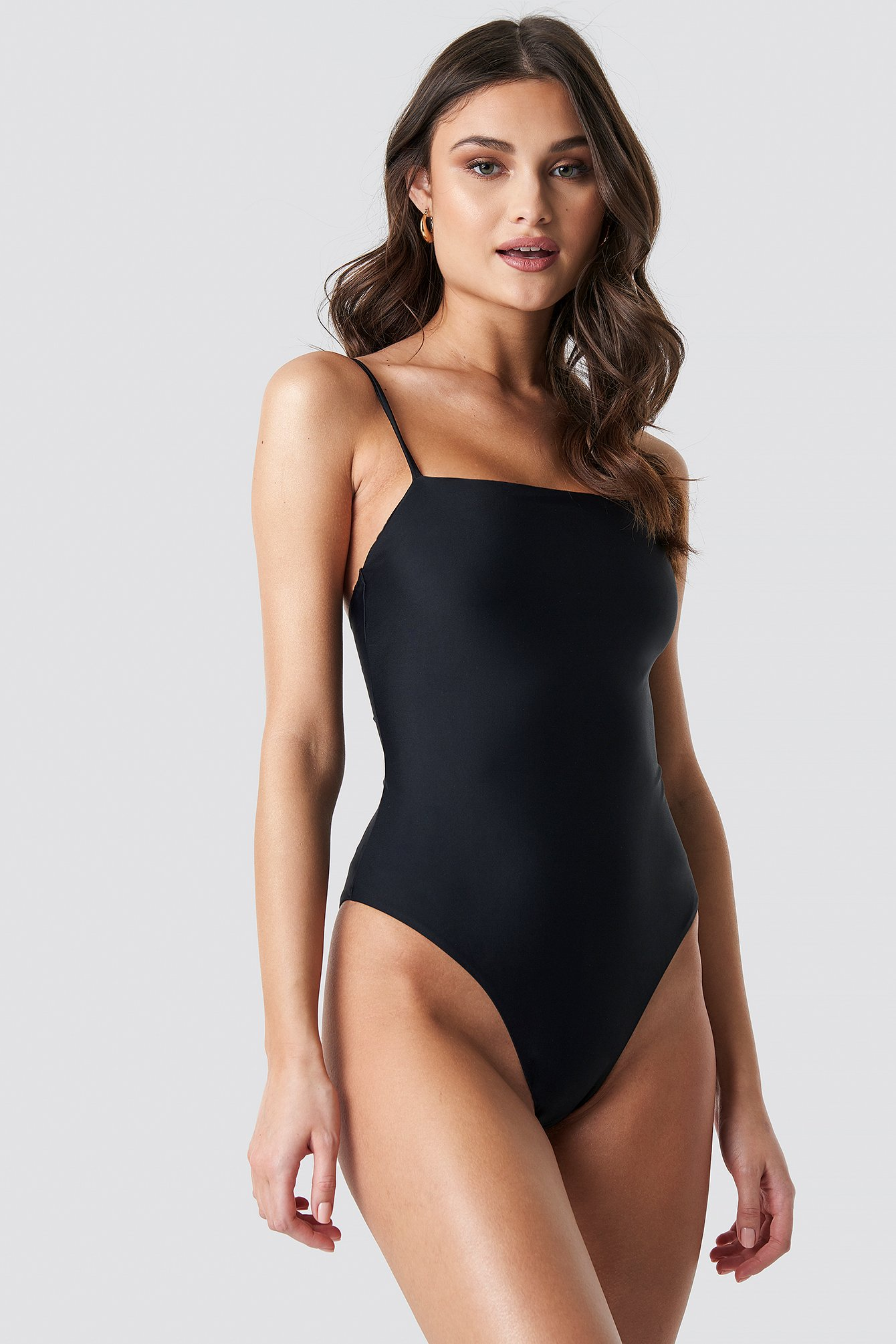 Lacing Open Back Swimsuit NA-KD.COM