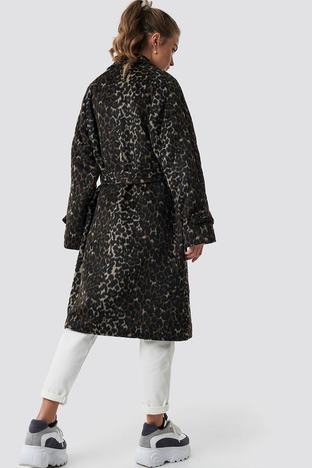 Leopard Maxi Coat Leopard