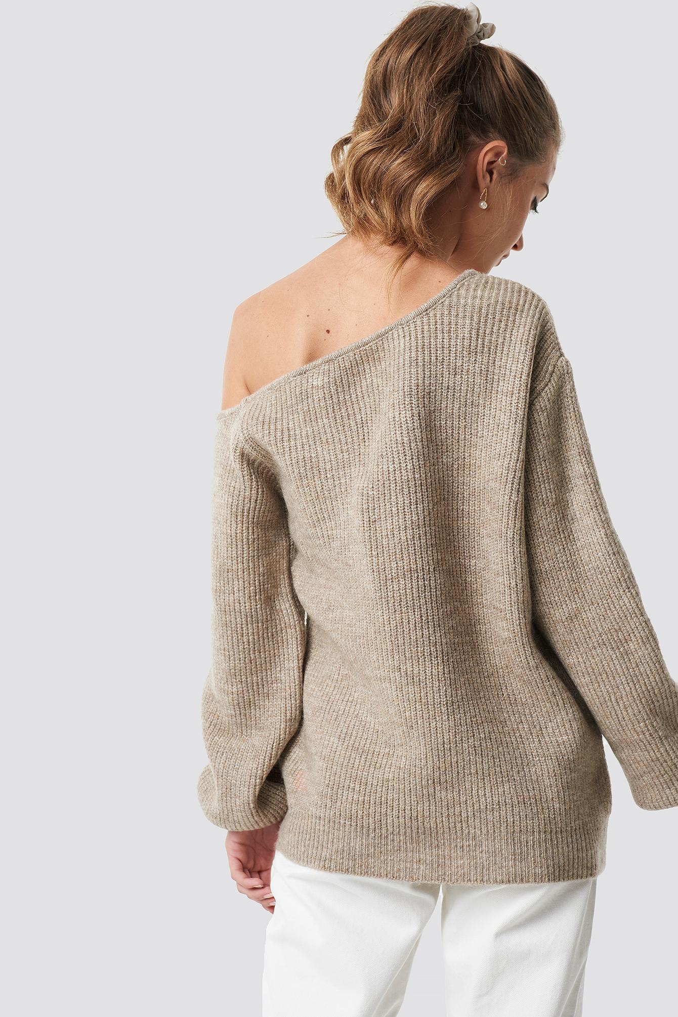 Off Shoulder Oversize Sweater NA-KD.COM
