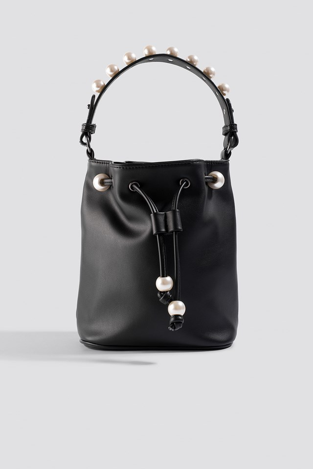 Pearl pouch bag Black