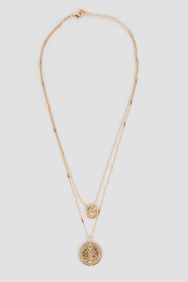 Round Pendant Necklace NA-KD.COM