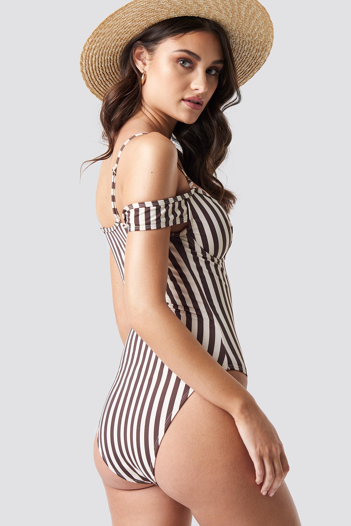 Slip Shoulder Swimsuit NA-KD.COM