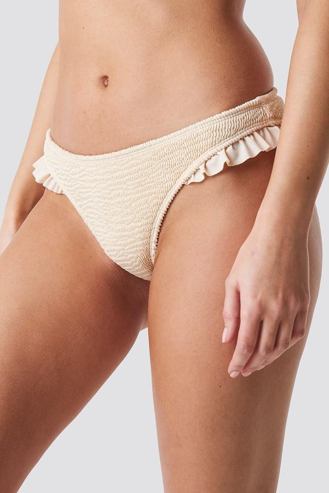 Smocked Frilled Bikini Bottom NA-KD.COM