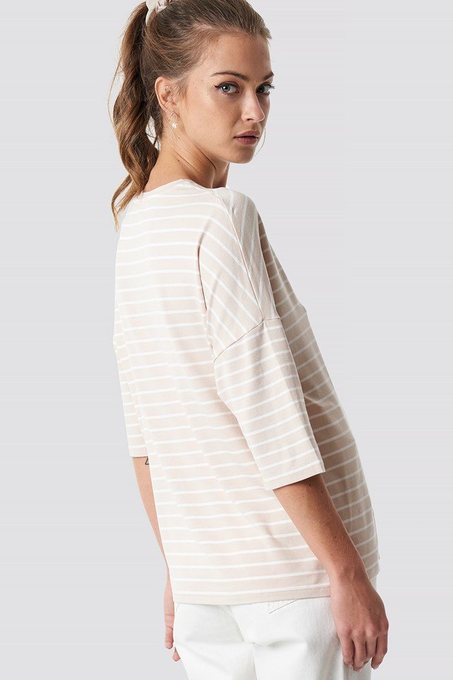 Striped Mid Sleve Top NA-KD.COM