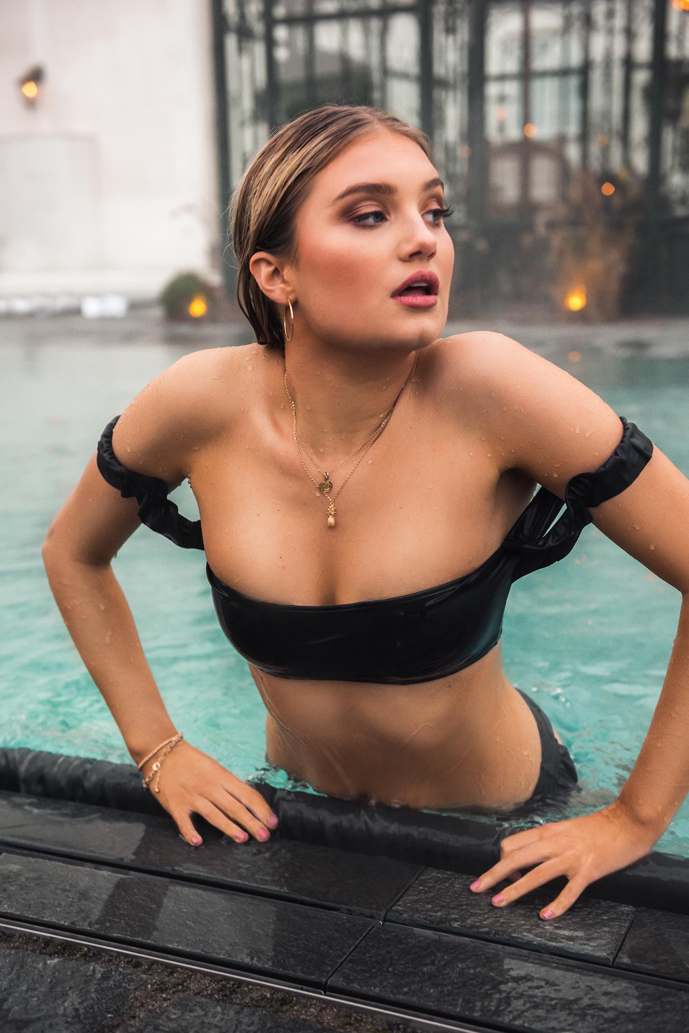 Frill Shoulder Bandeau Bikini Top NA-KD.COM