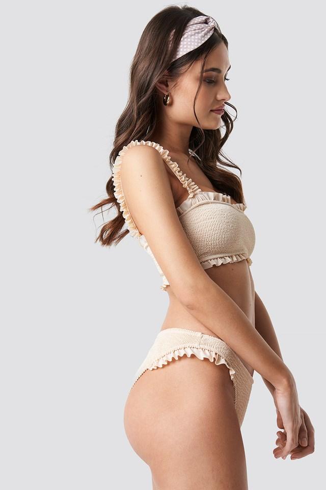 Smocked Bandeau Bikini Top NA-KD.COM
