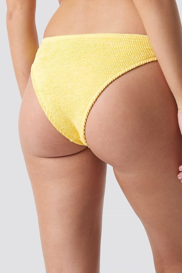 Smocked Bikini Bottom Yellow