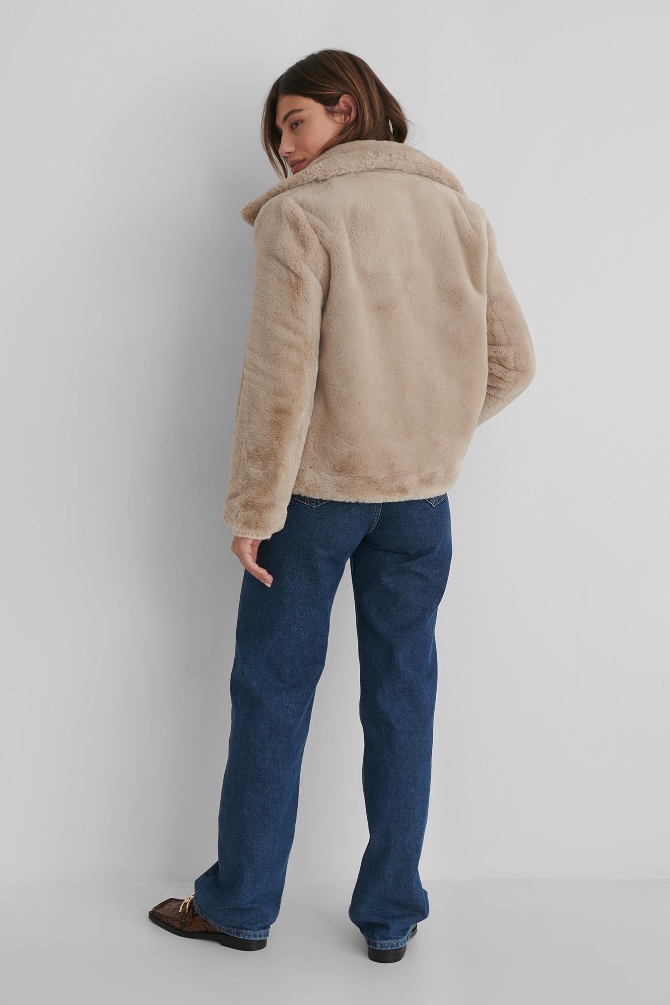 Woodi Coat Beige   na-kd.com