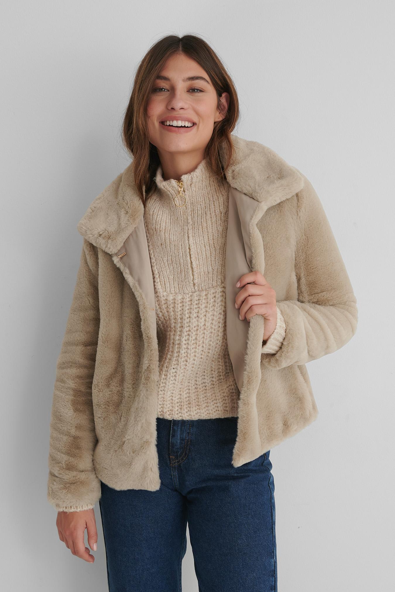 Quilted Short Jacket Beige   na-kd.com in 2021   Short