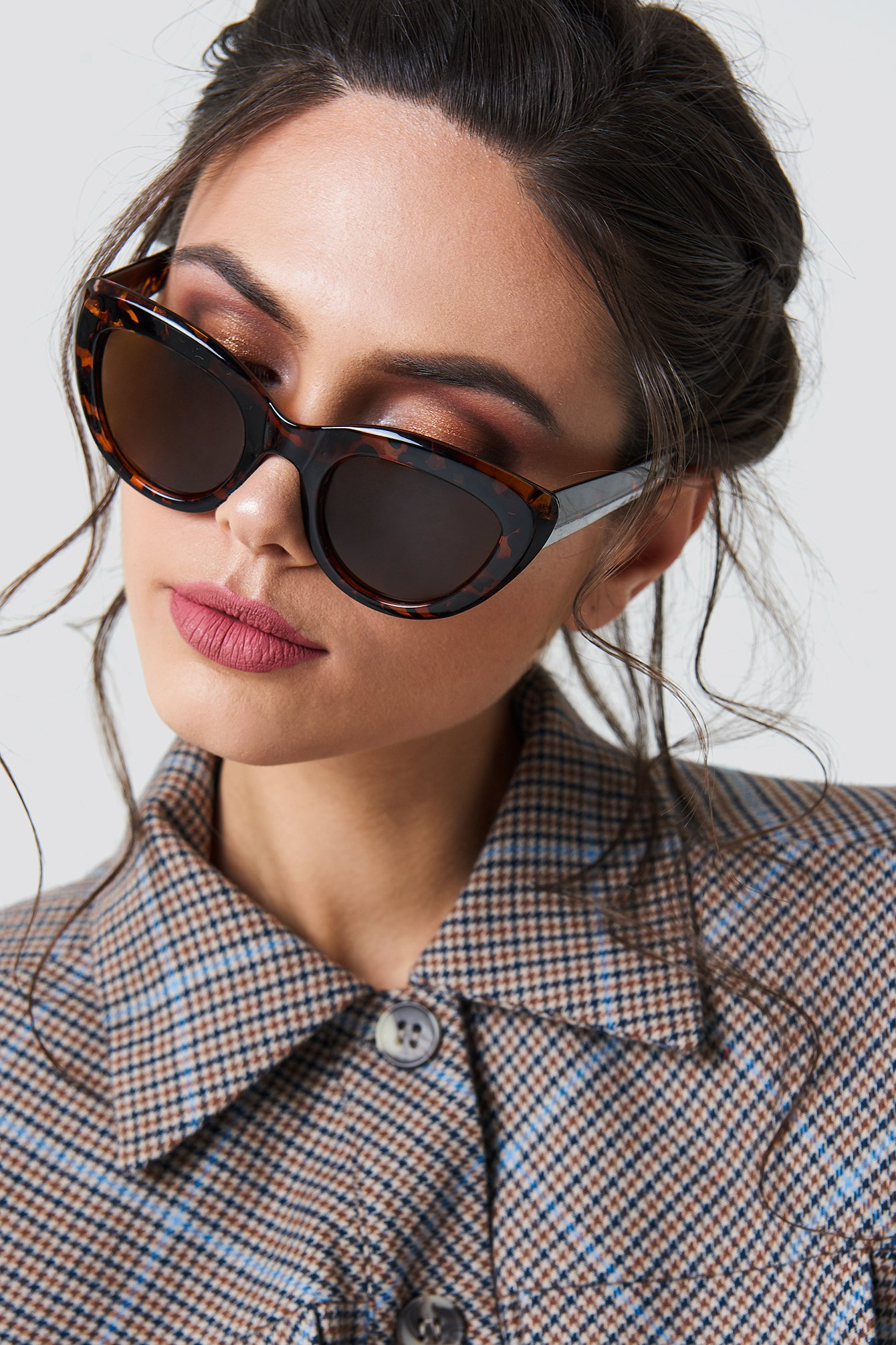 na-kd accessories -  Cat Eye Sunglasses - Brown,Multicolor