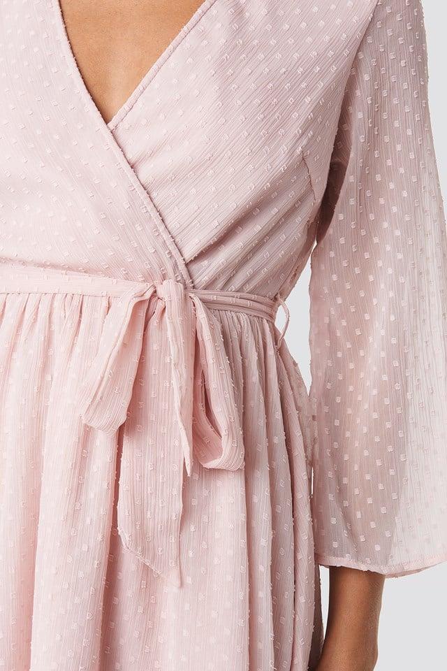 Belted Wrap Mini Dress NA-KD.COM