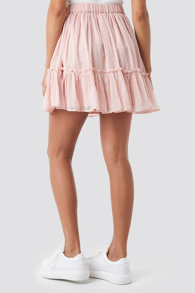 Flowy Mini Skirt Pink