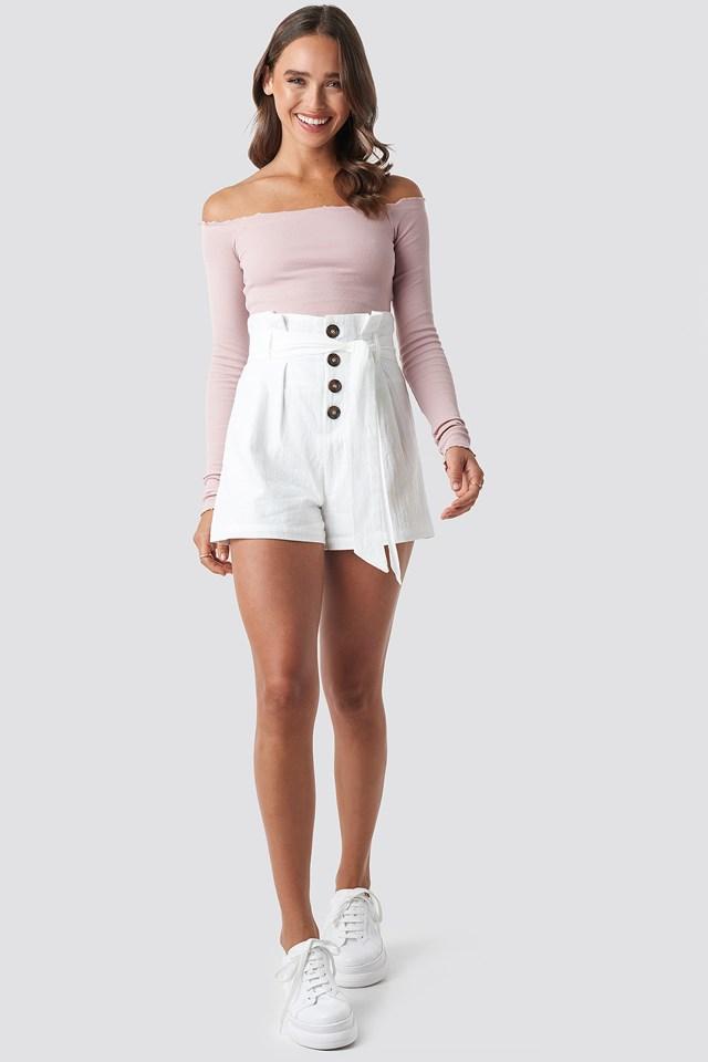 High Waist Belted Shorts NA-KD.COM