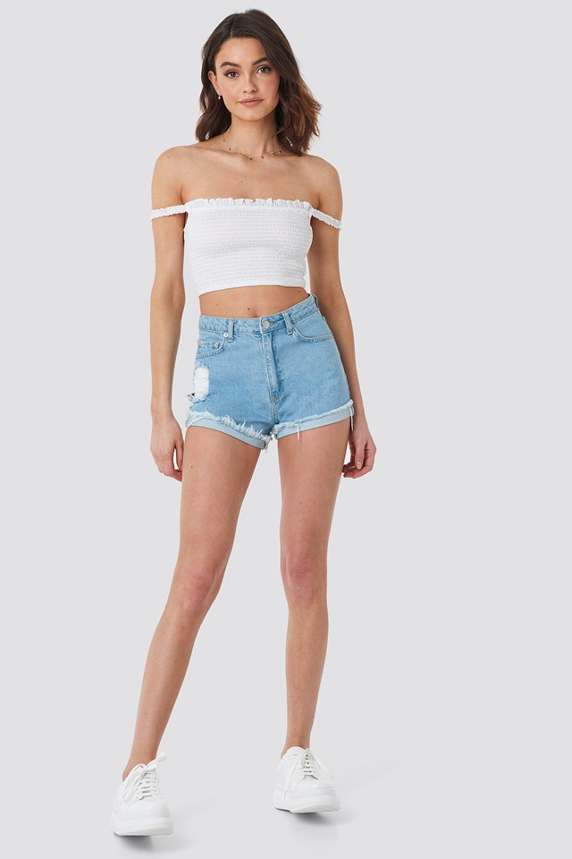 Relaxed Denim Shorts NA-KD.COM