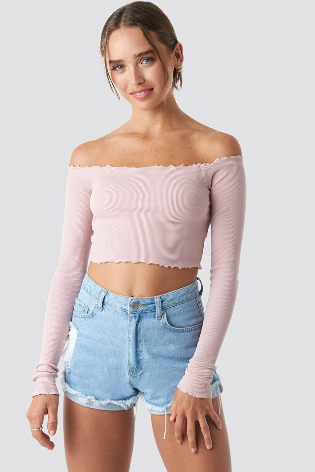 Long Sleeve Crop Top NA-KD.COM