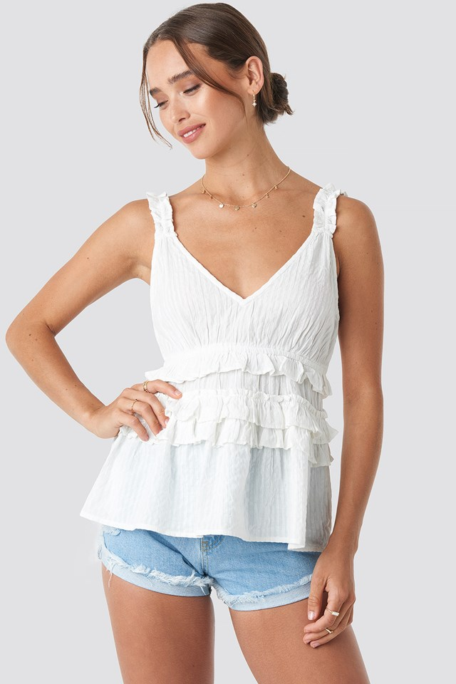 Ruffle Detailed Top NA-KD.COM
