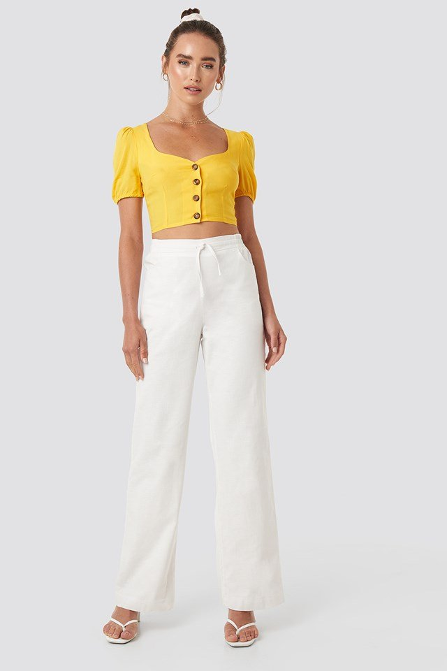 Comfy Wide Leg Pants White