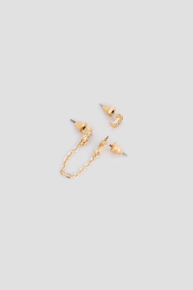 Chain Star With Moon Set- 2 pack Céline & Talisa x NA-KD