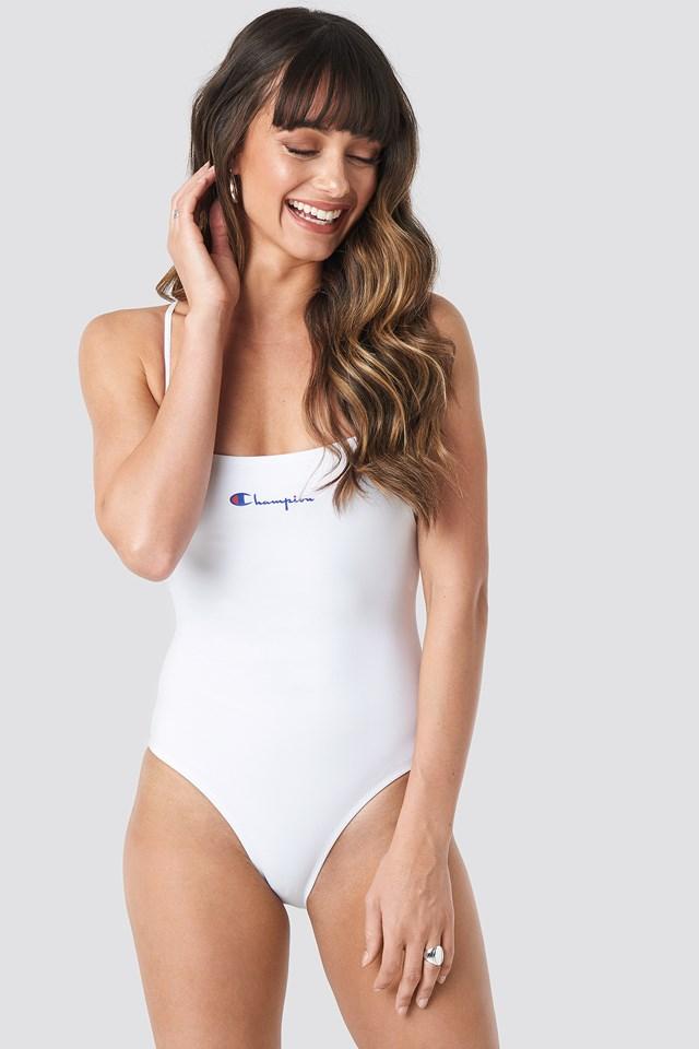 Back Cross Swimsuit White