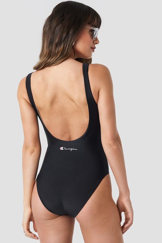Chest Logo Swimsuit Black/Cream