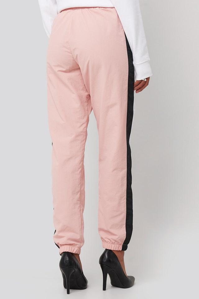 Elastic Cuff Pants Silver Pink