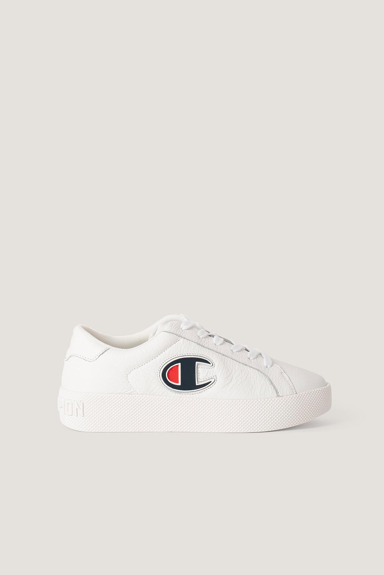 Champion Lädersneakers - White