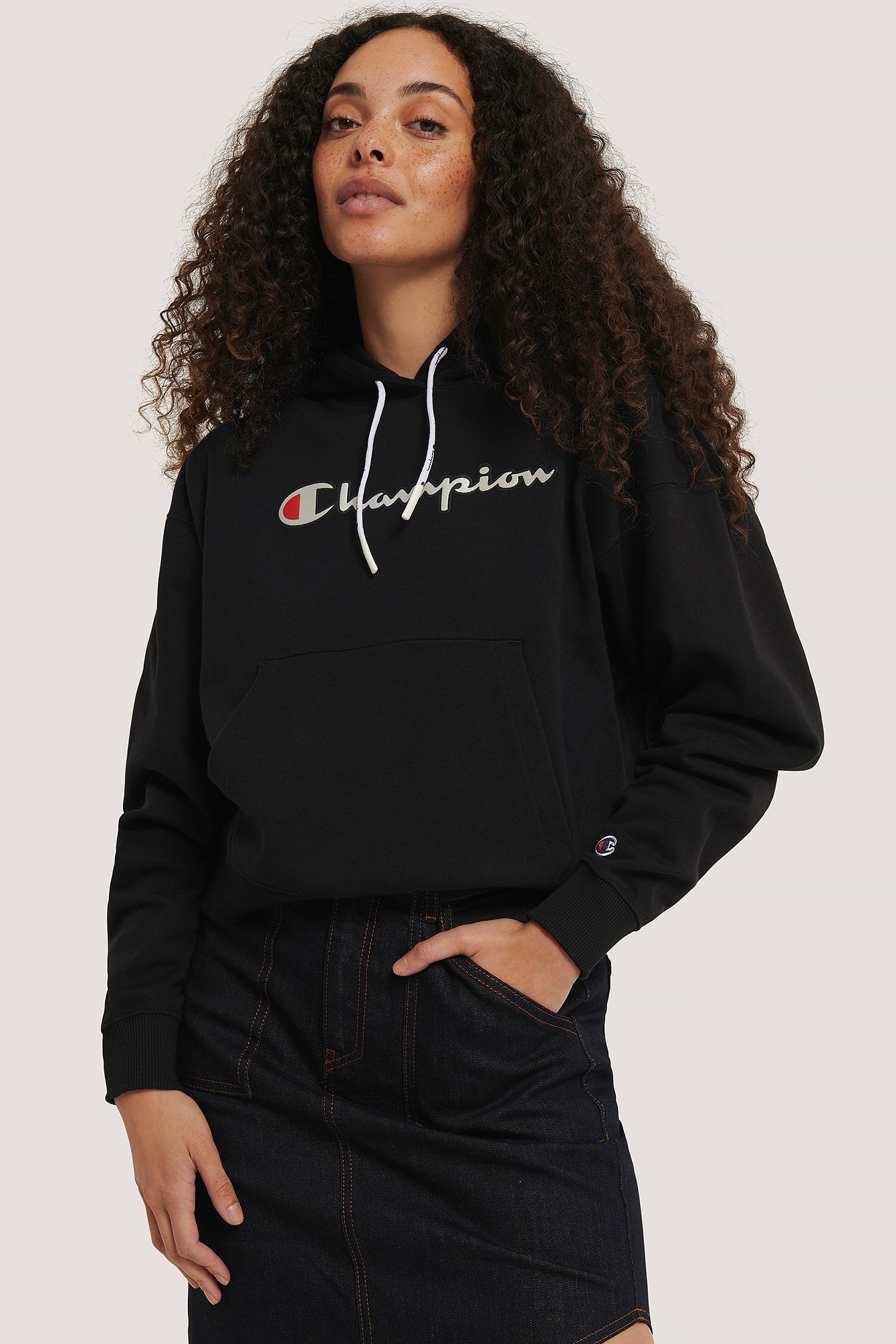 champion -  Sweatshirt Mit Kapuze - Black