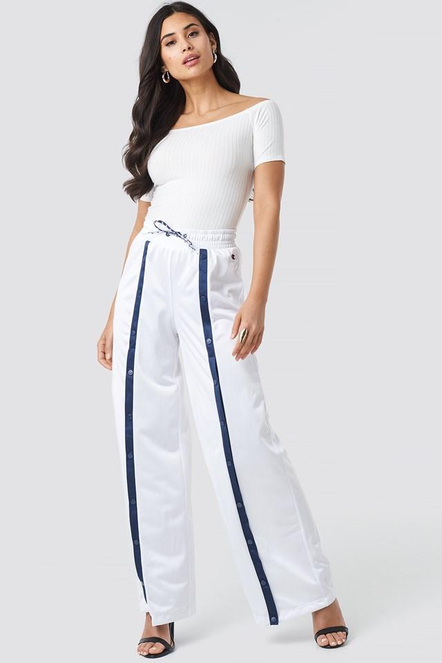 Straight Hem Pants White