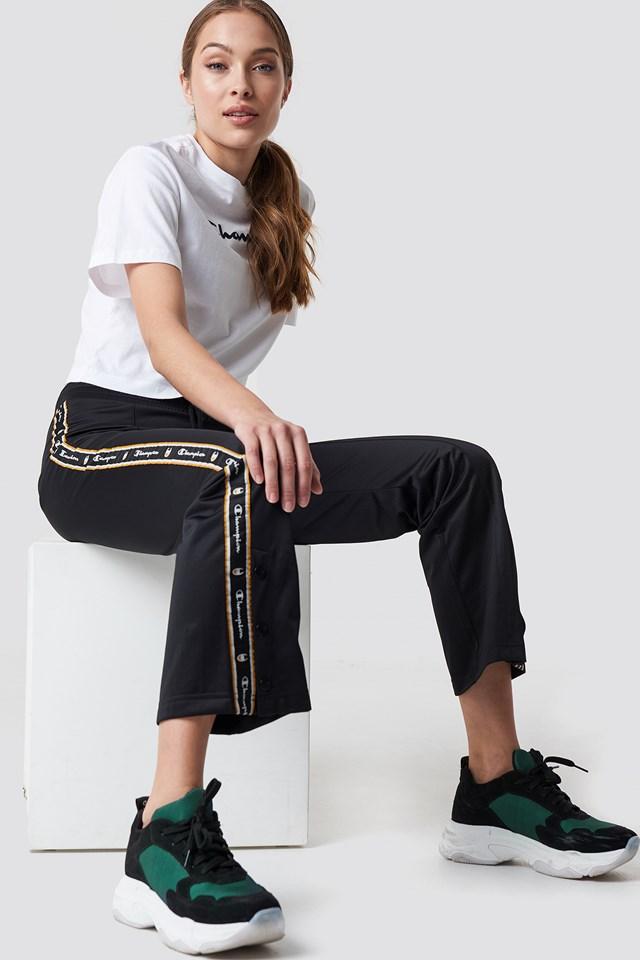 Straight Hem Pants Black