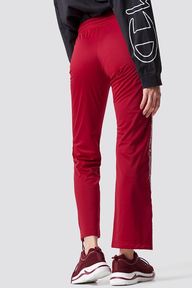 Straight Hem Pants Dark Red