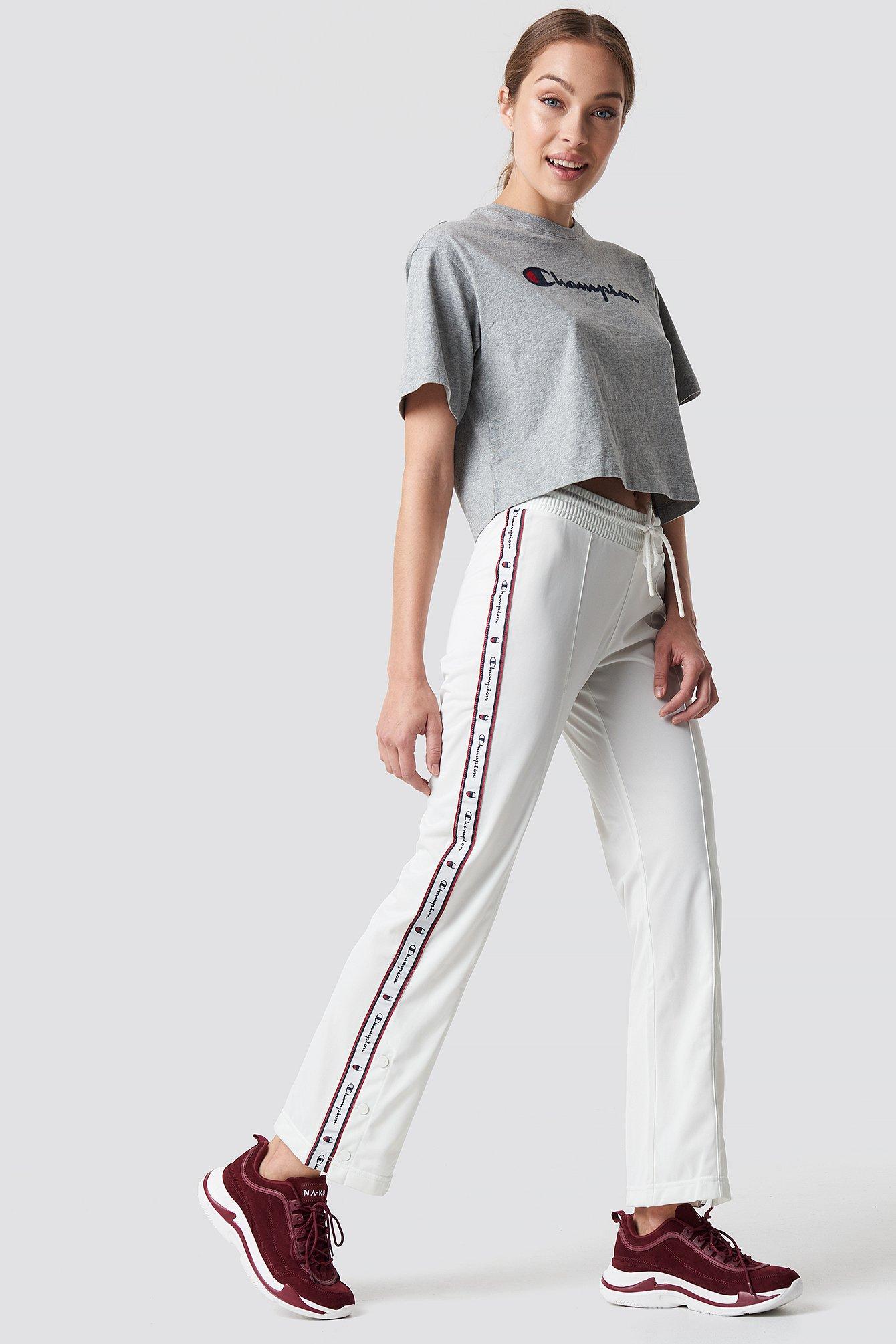 champion -  Straight Hem Pants - White