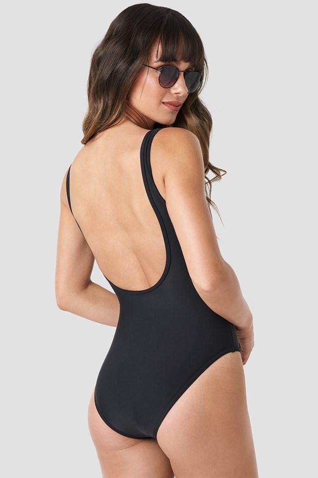 Zipper Swimsuit Black