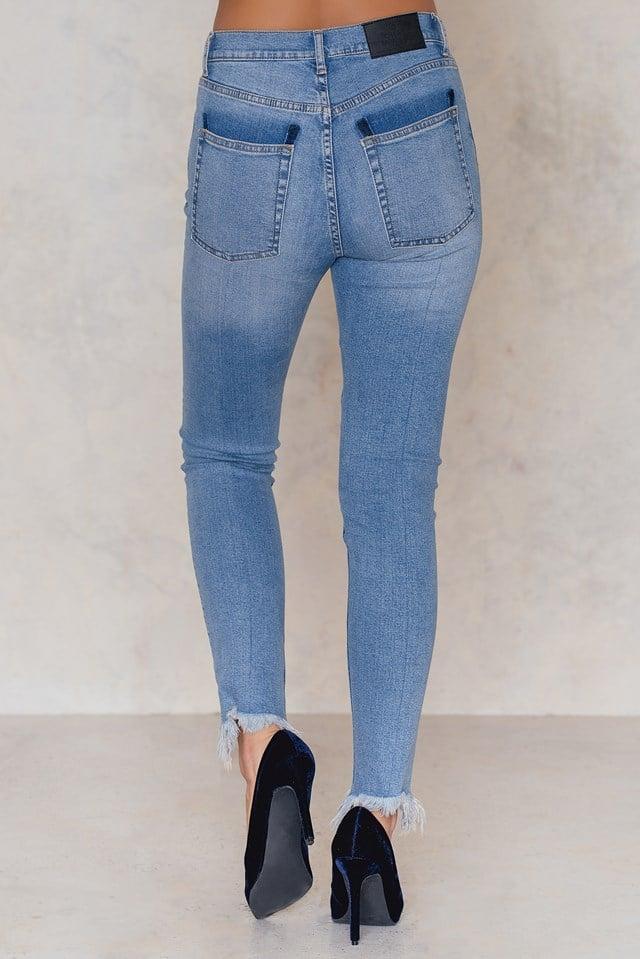 Second Skin Edit Blue Jeans NA-KD.COM