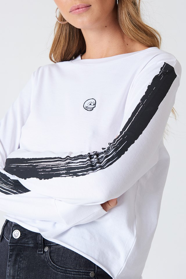 Bed LS Tee White
