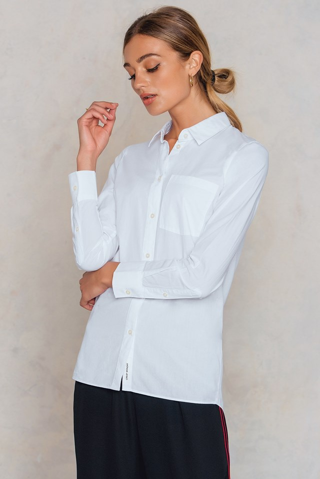 Behave Poplin Shirt White