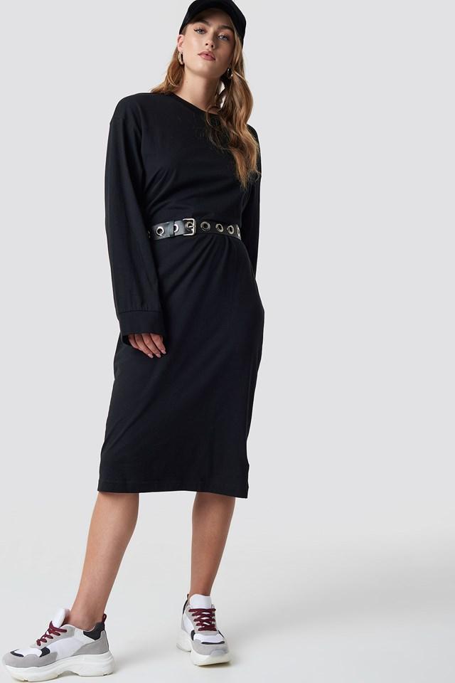 Bind Dress Skull Black