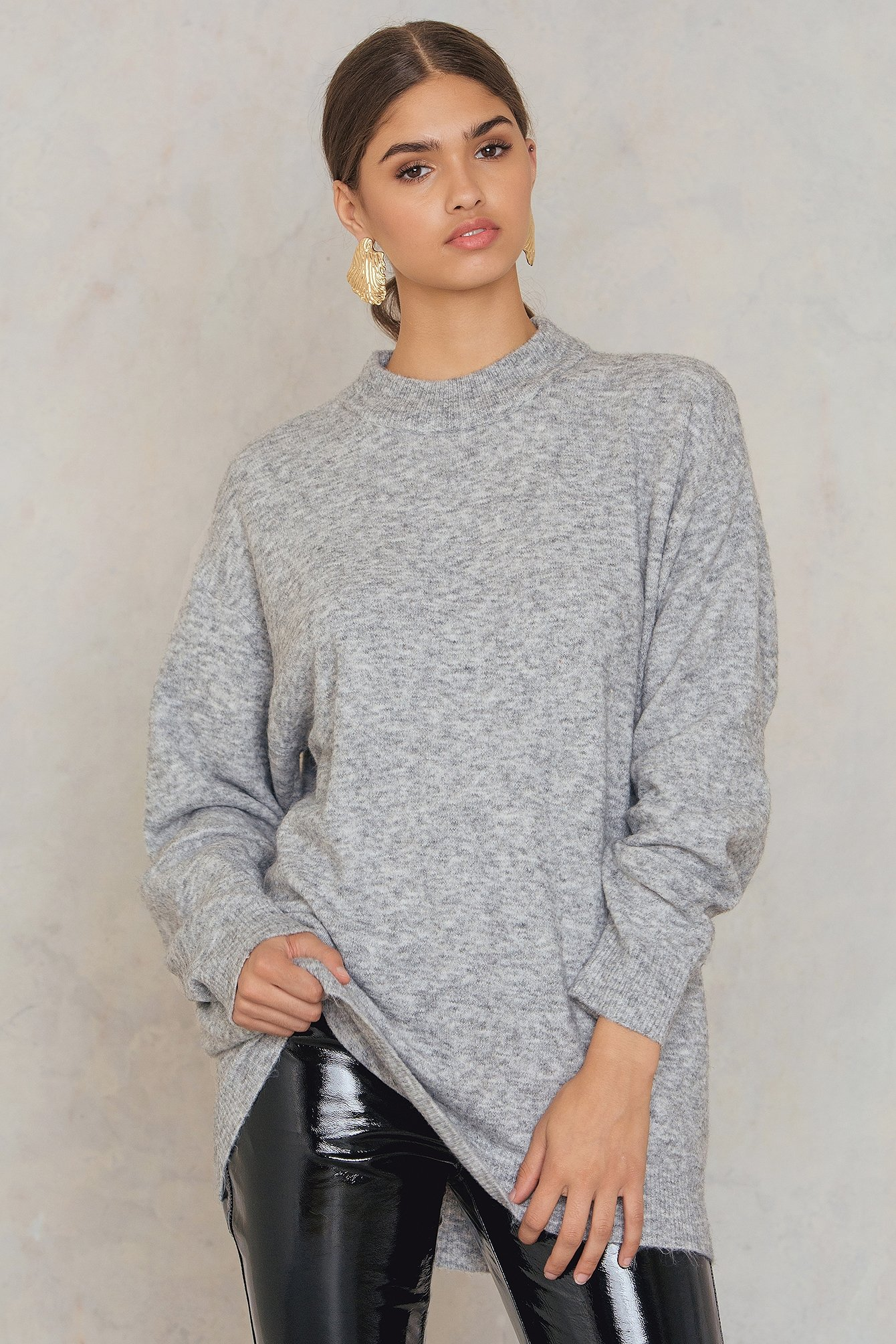 Medium Melange Bomb Knit