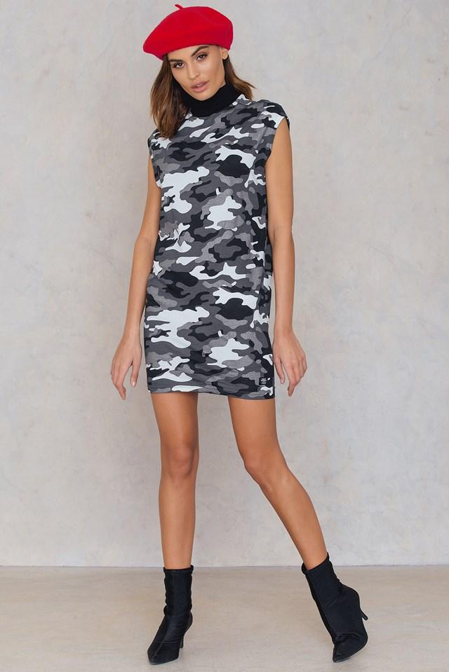 Cap Dress After Camo Black