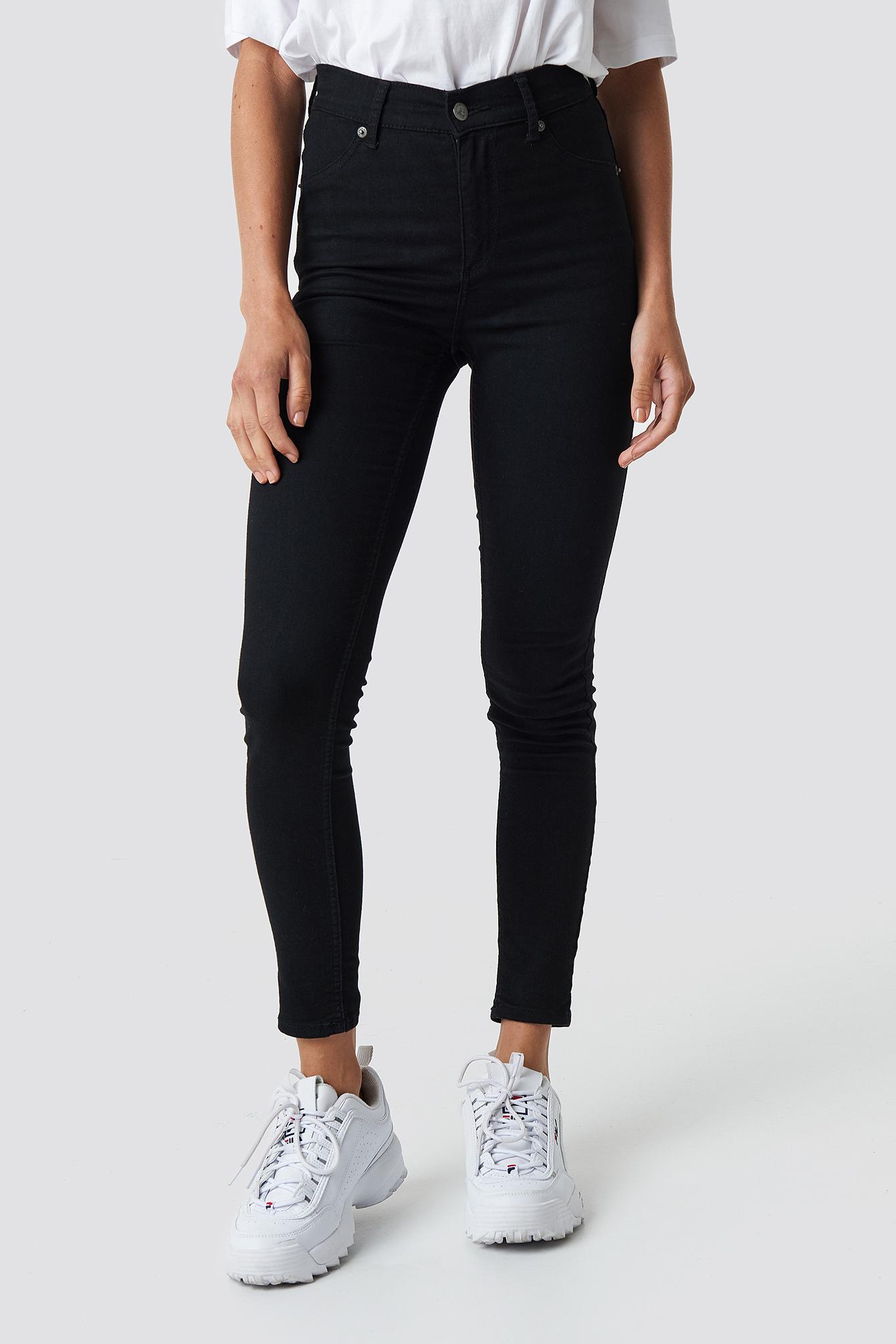 High Spray Black Jeans NA-KD.COM