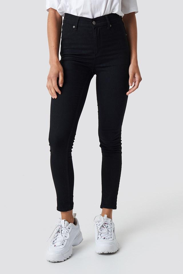 High Spray Black Jeans Black