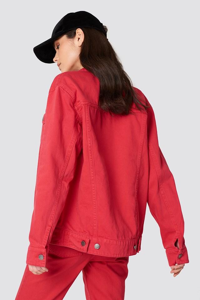 Cred Jacket Red Denim