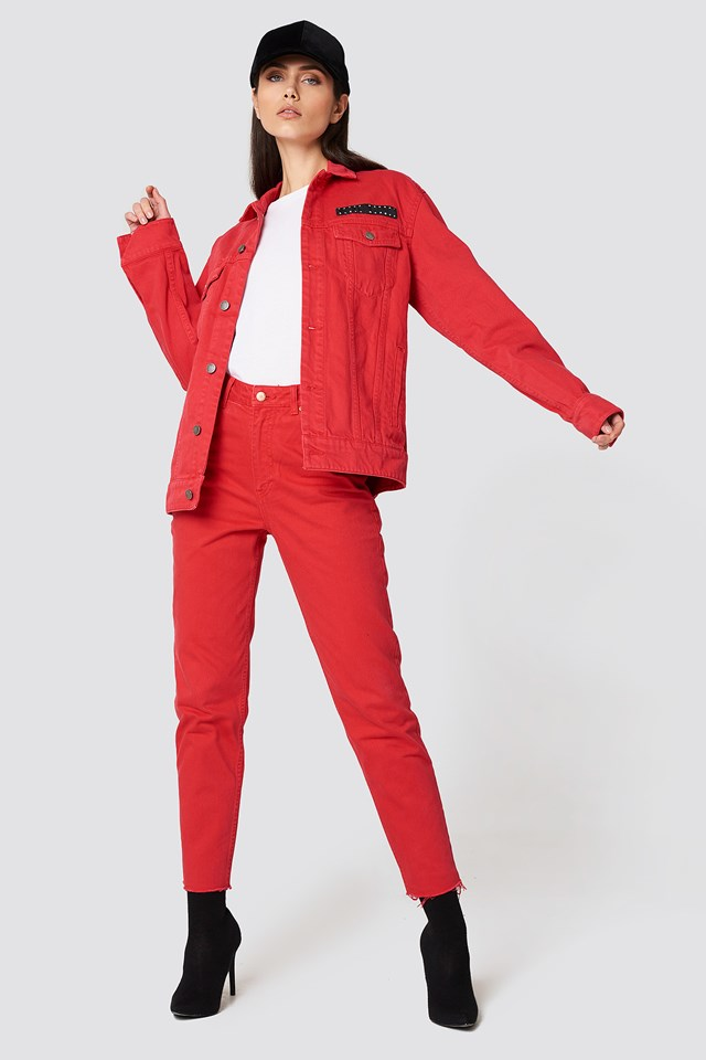 Donna OD Red Jeans Cheap Monday