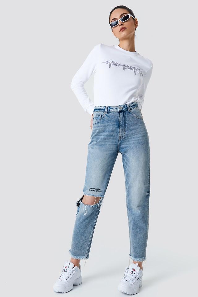 Donna Pixel Blue Jeans Pixel Blue
