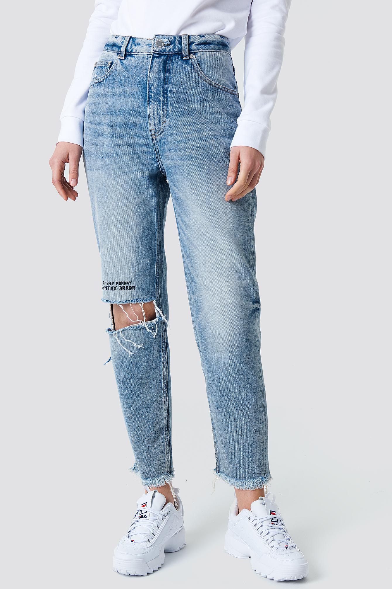 Donna Pixel Blue Jeans NA-KD.COM