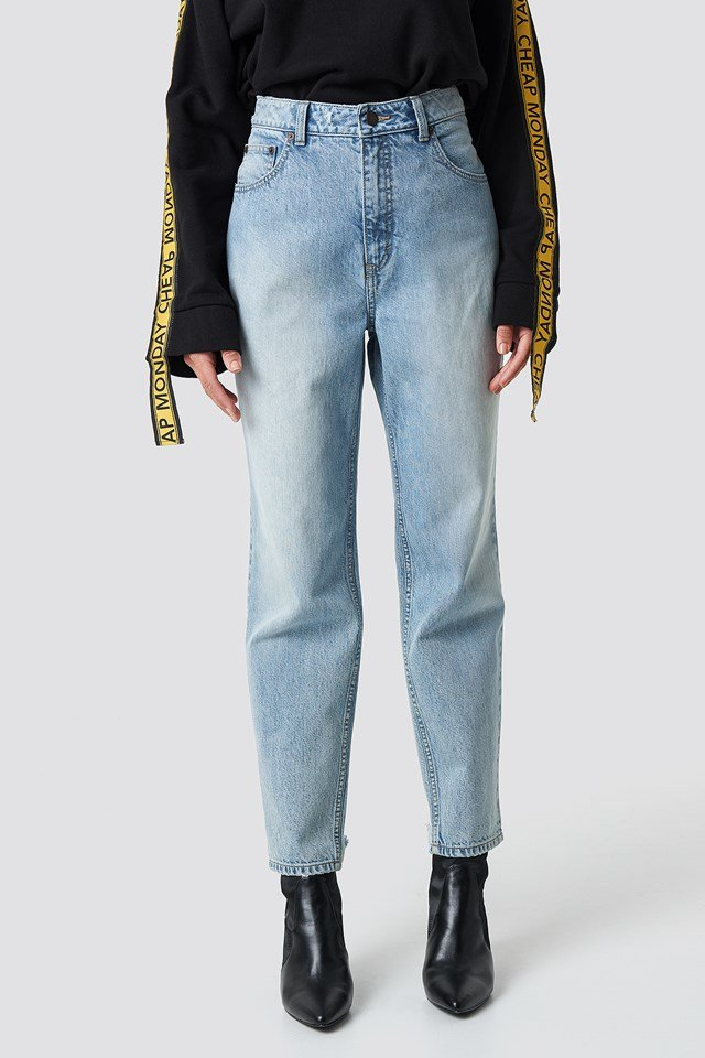 Donna Trash Metal Jeans Blue