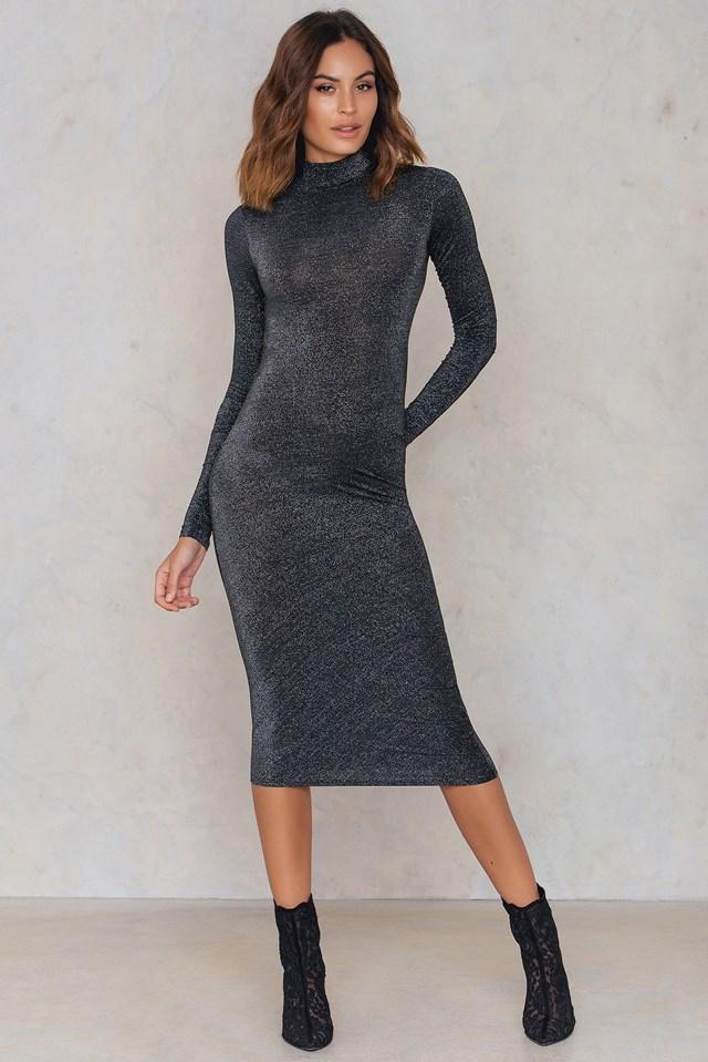 Glint Dress Black