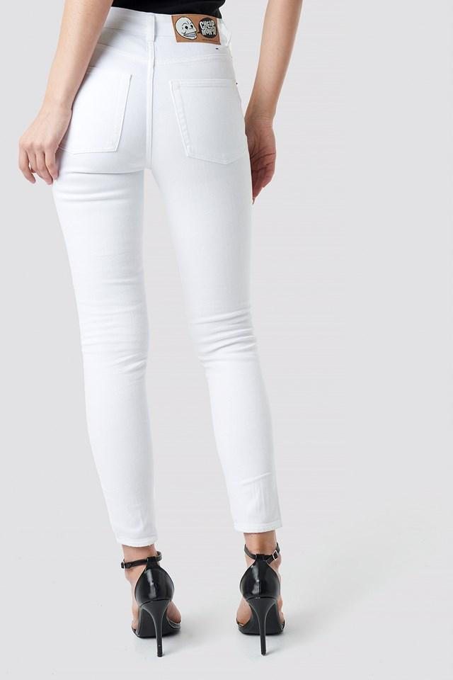 Jeansy z wysokim stanem Skin NA-KD.COM