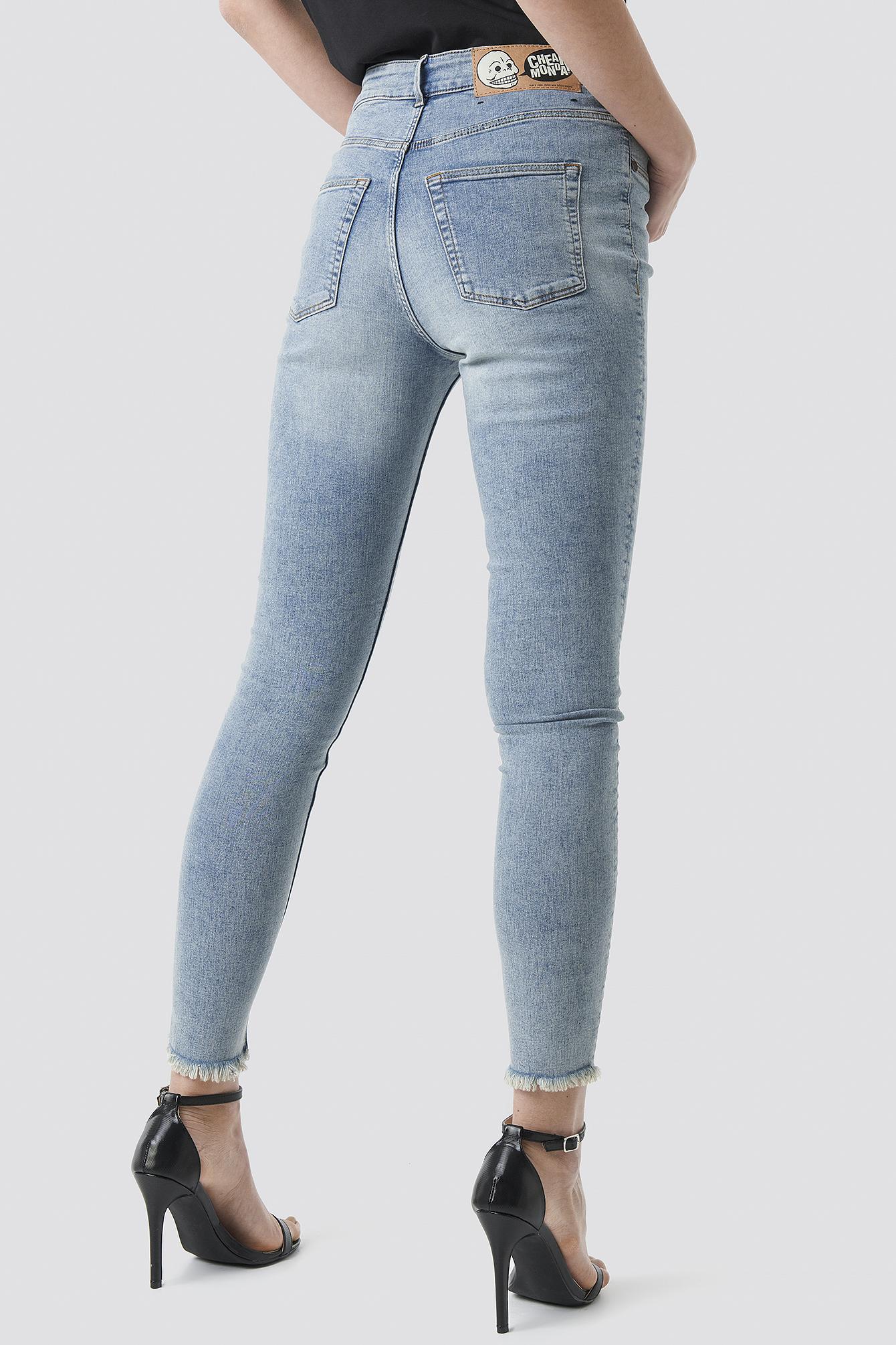 High Spray Hex Blue Jeans NA-KD.COM