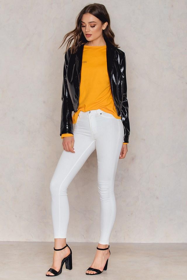 High Spray White Jeans White