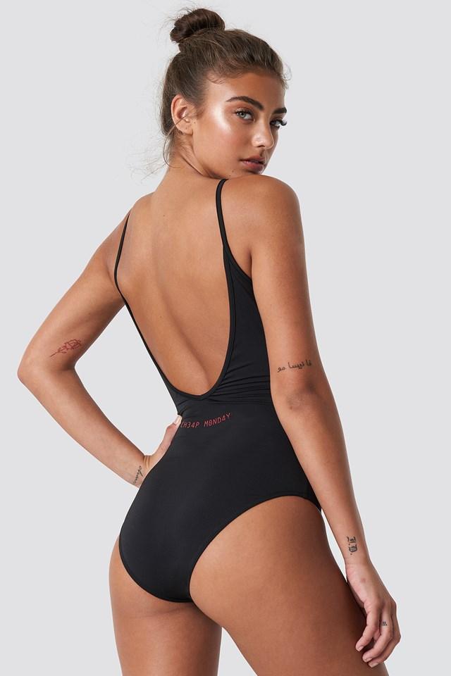 Inner Bodysuit Hacker Stamp Black
